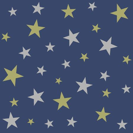 Christmas holiday background, seamless pattern with stars. Vector illustration Illustration