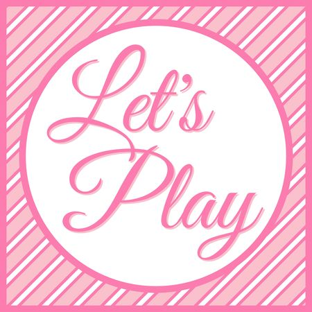Let's play banner vector illustration 일러스트