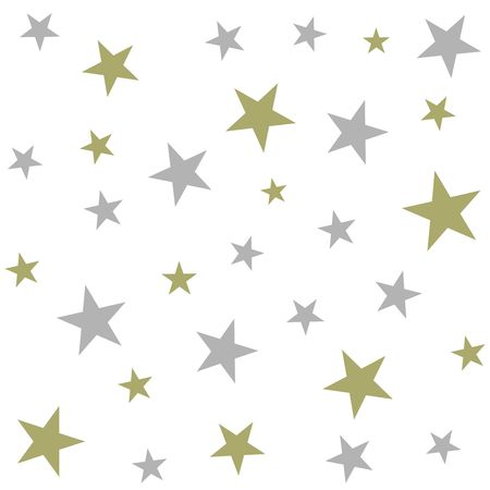 Christmas holiday background, seamless pattern with stars. Vector illustration Ilustracja