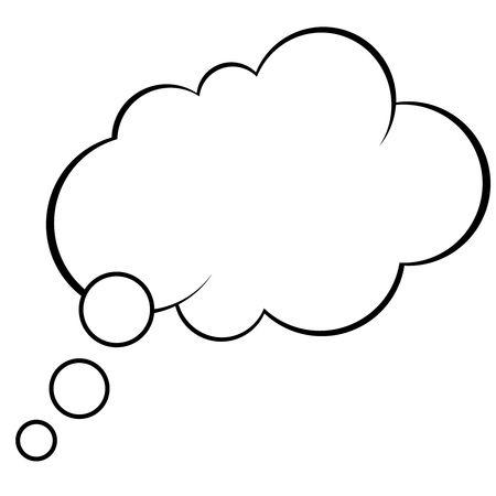 Thought Bubble in Pop Art Comics Style. vector Template illustration Stock Illustratie