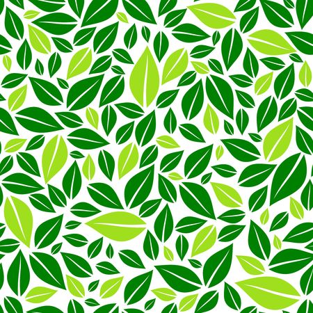 Green leaves seamless pattern vector illustration 일러스트