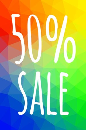 Sale banner template with low poly vector background. Special offers and discounts promotion. vector illustration. Illustration