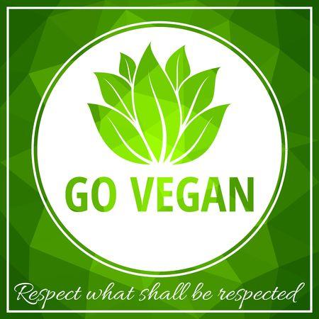 A Vector illustration of Vegan food concept design. lettering for restaurant, cafe menu.