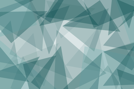 Abstract blue vector background with triangles - illustration