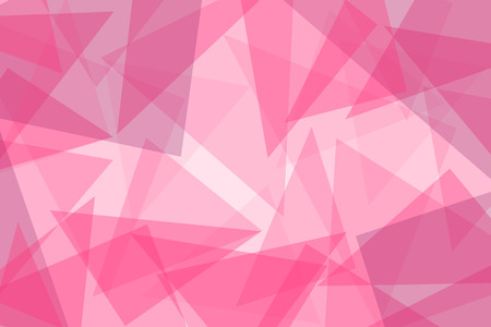 Abstract pink vector background with triangles - illustration