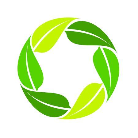Circular leaves image illustration