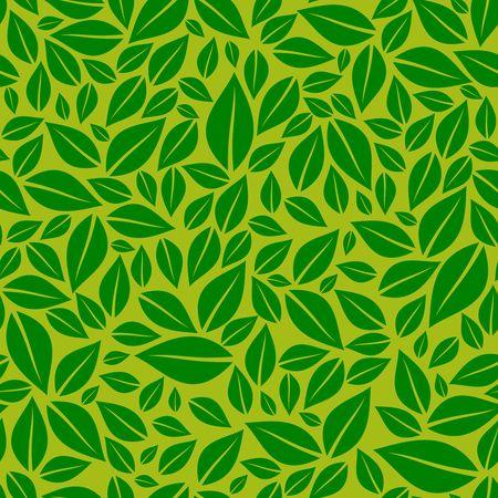 Green leaves image illustration Illustration