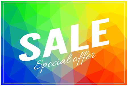 Sale banner image illustration