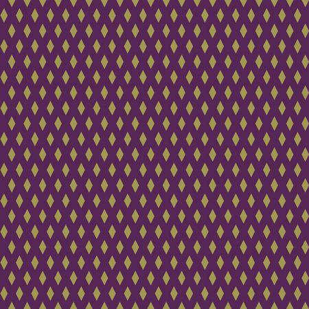 Seamless golden abstract pattern. Print of gold stars, rhombs on dark background. Vector illustration. Stock Illustratie