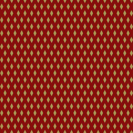 A Seamless golden abstract pattern with Print of gold stars, rhomboids on dark background Vector illustration Stock Illustratie