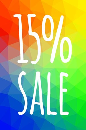 Sale banner template with low poly vector background vector illustration. Illustration