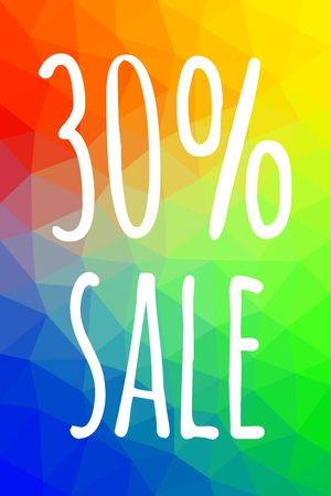 Sale banner template with low poly vector background vector illustration. Ilustracja