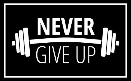 Motivational quote about workout fitness gym and bodybuilding Motivation concept typography Vector illustration design