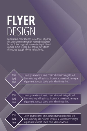 Vector Brochure design template in purple color - vector illustration