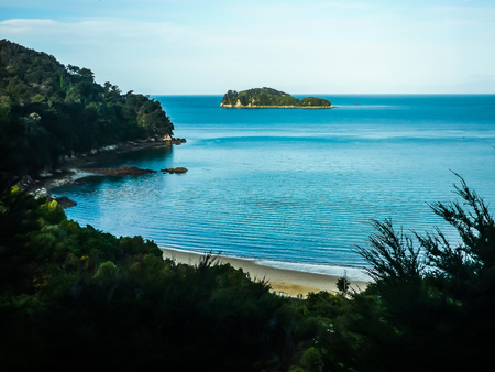 Beautiful New Zealand Landscape. Abel Tasman National Park, South Island, NZ