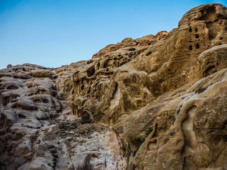 beautiful view of the mountains in Wadi Rum in Jordan.