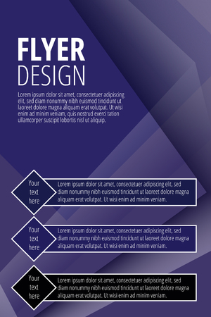 Vector Brochure Flyer design template in purple color - vector illustration