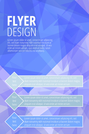 Vector Brochure Flyer design template in blue color - vector illustration