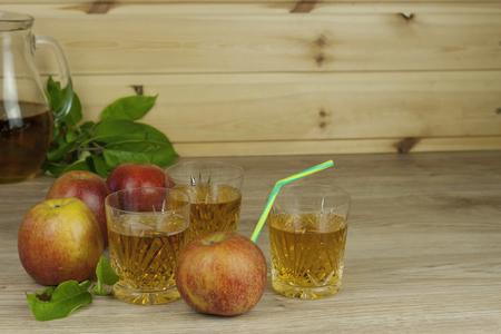 refreshment: fresh apple juice cool summer refreshment diet drink with vitamins