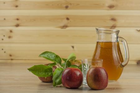 fresh apple juice cool summer refreshment diet drink with vitamins