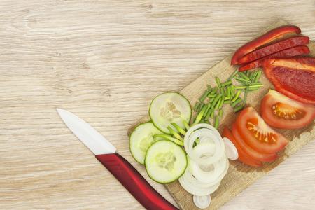 paring knife: Homework vegetable salad. Ceramic Paring knife.