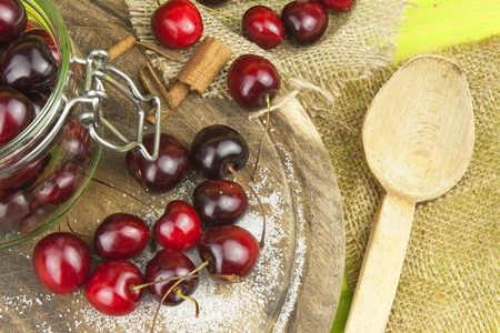 domestic production: Domestic production of cherry jam.