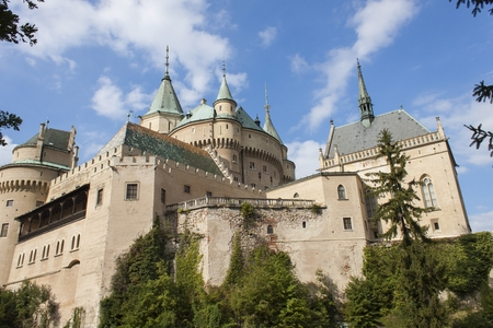 12th century: Historic castle Bojnice in the Slovak Republic. View of an old castle built in the 12th century.