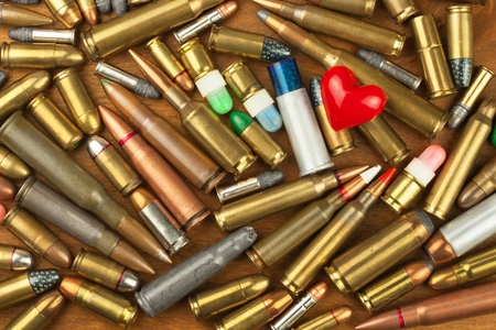 gun control: Gun control rights weapon. Different types of ammunition. The right to ownership of guns for defense.