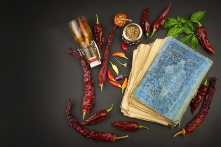 Cookbook and chillies recipe for spicy food mexican cuisine 64042427 cookbook and chillies recipe for spicy food mexican cuisine food preparation according to the old recipe book grandmas recipe book forumfinder Gallery