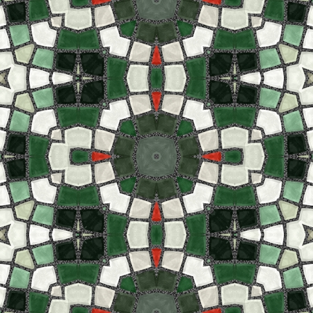 shards: Texture oriental carpets. Mosaic from glass shards. New seamless texture of abstract fabric. Kaleidoscopic wallpaper tiles. Oriental pattern Stock Photo