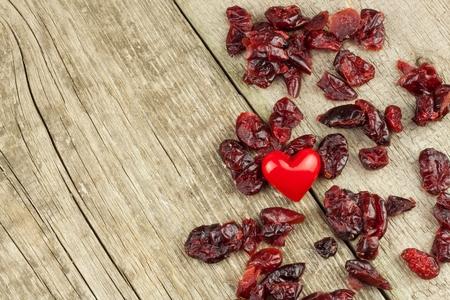 Healthy eating dried cranberries. Diet food.