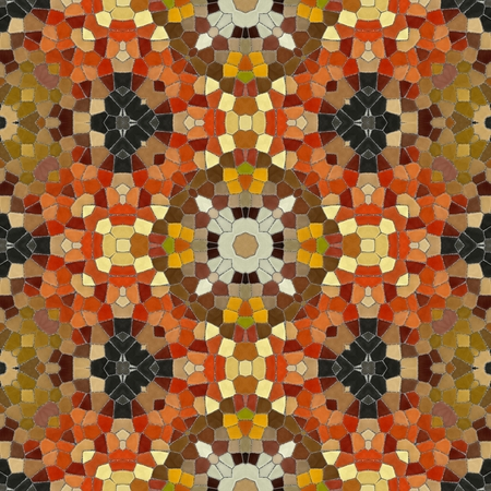 shards: New seamless texture of abstract fabric. Arabic tile texture with geometric ornaments. Texture oriental carpets. Mosaic from glass shards.