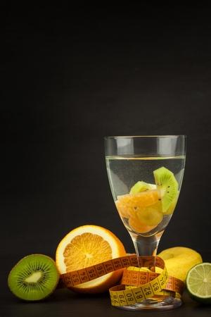 Dietary brunch. Raw food. Diet concept. Fresh fruit. Stock Photo