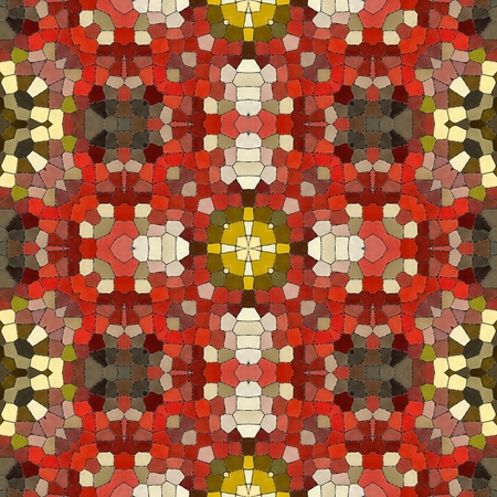 Ornamental decorative material. Printing paper packing. Wall wallpaper in the room. Abstract geometric seamless pattern handmade ethnic and tribal motifs. New red seamless texture tiles.Tile