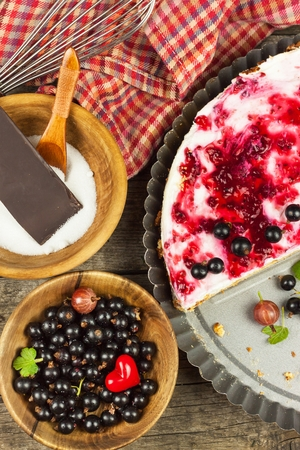 odorous: Summer Dessert with Currant and Cheesecake Cream.  Healthy pleasure