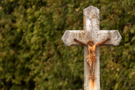 easter cross: Statue of Jesus Christ. Jesus on cross. Symbol of faith, hope and love. Celebration of Easter Holidays