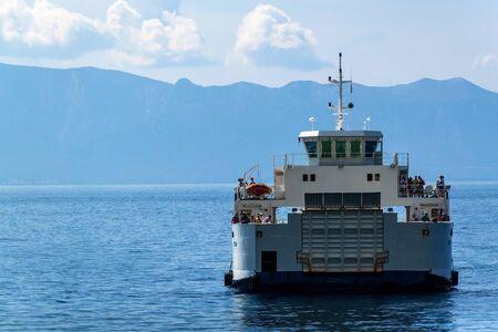 CROATIA, DRVENIK, September 8, 2018: Ferry Jadrolinija between the islands of Croatia in the Adriatic Sea. Sailing in the town of Drvenik on the island of Hvar