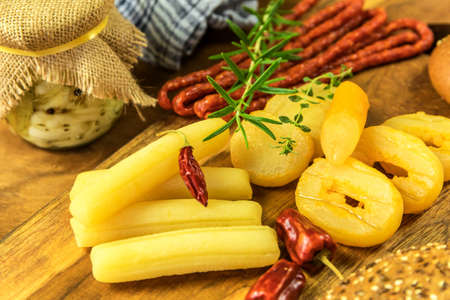 Czech smelly cheese - Olomoucke tvaruzky. Stinky cheese. Aromatic delicacy. Dairy products. Traditional Czech cheese.