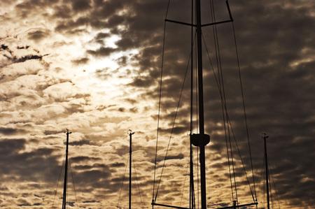 masts: Masts Silhouette Stock Photo