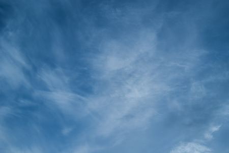 cirrus: Blue sky with cirrus clouds Stock Photo