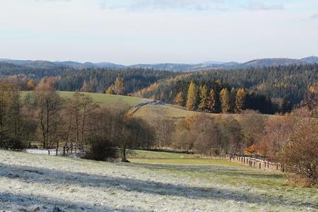 Winter landscape in Czech republic