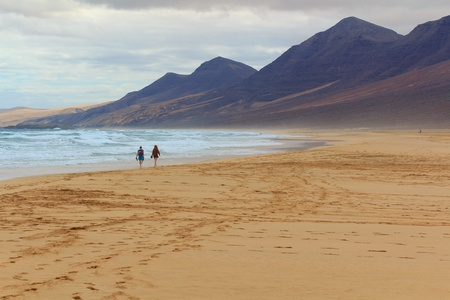Cofete beach in Fuerteventura, Canary Islands