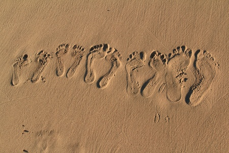 Footprints on the beach, Fuerteventura- Canary Islands