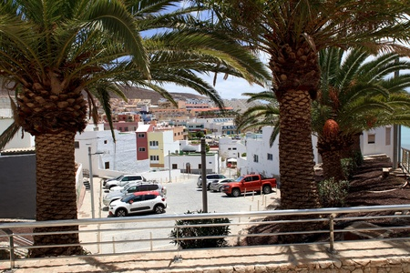Morro Jable, Fuerteventura Spain, May 18, 2018: Morro Jable and view of city streets , Fuerteventura- Canary Islands