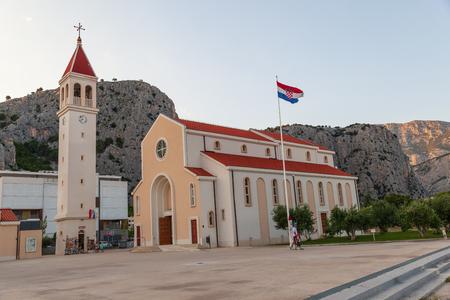 Omis, Croatia, July 19, 2018: The church of St. Petra - Priko in Omis, Croatia Editorial