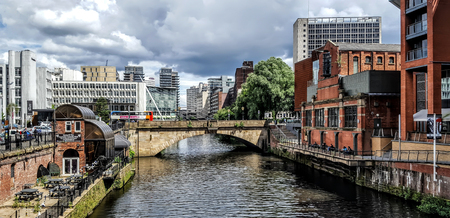 The River Irwell as it flows through central Manchester