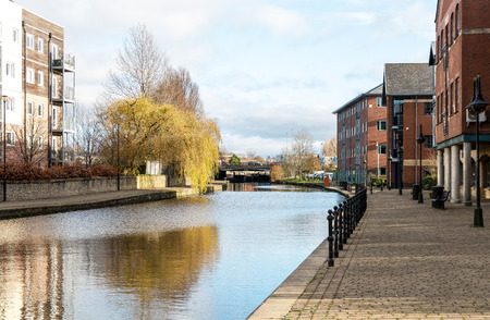 The Leeds Liverpool Canal as it passes through Wigan