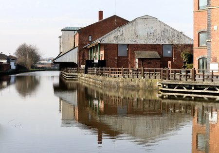 The old and vacant buildings at the Wigan Pier complex