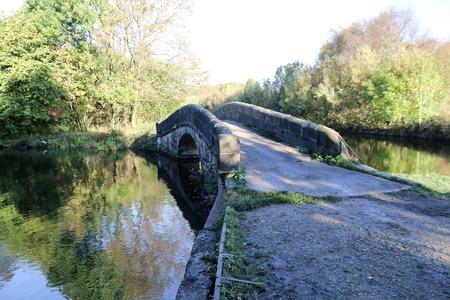 小さなこぶ裏石運河橋は、歩行者やサイクリストが水をバイパスするのに役立ちます