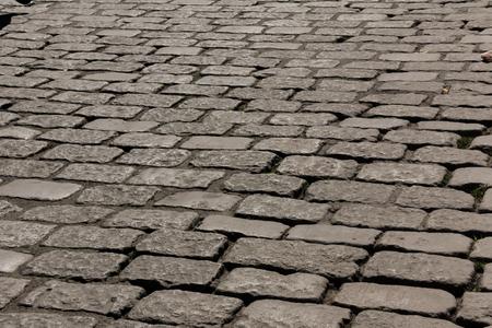 ベルギーのヘントの石畳の通り 写真素材